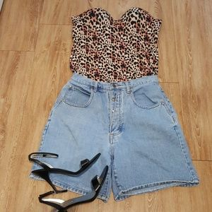 Vintage button fly high waisted shorts